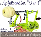 Made for us Profi Alu- Apfelschäler Apfelschneider Apfelentkerner Schälmaschine, in Hellgrün,...