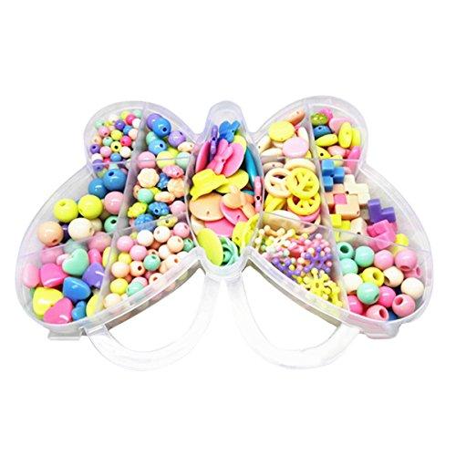 Butterme Enfants Assorted Shaped Perles Acrylique Set artisanats bricolage Perles Pour Fabrication de bijoux petite enfance jouets éducatifs