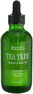 Measurable Difference Tea Tree Hydrating Body Oil, 4 Fluid Ounce