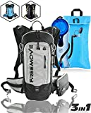 Hydration Pack Backpack with 2L Hydration Bladder and Cooler Bag | Lightweight, Fully Adjustable, Multiple Pockets | 10L Overall Storage Capacity for Day Hiking, Running, Cycling, MTB, Skiing
