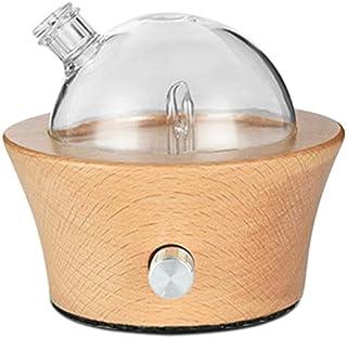 WZHZJ 25ml Essential Oil Diffuser, Natural Wood Color Glass Atomized Essential Oil Diffuser