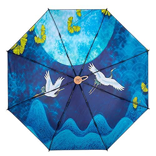 Hwjmy Paraguas doble estilo chino retro literario con protección contra rayos UV (color: 14)