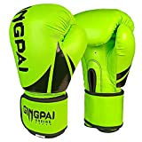 Boxing Gloves for Men Women Kids,PU Leather UFC Training Mitts Gloves for MMA Punching Bag,Kickboxing,Muay Thai Sparring Fighting Gloves
