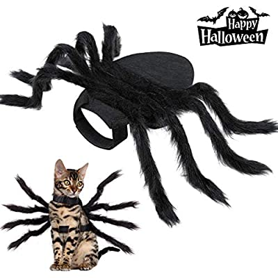 Halloween Spider Costume for Dog Cat, Halloween Pet Costume Halloween Decorations, Spider Decor Halloween Party Supply, Spider Cosplay Costumes With Adjustable Velcro for Small Medium Dogs and Cats