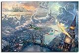 JiaHM Modeplakat Wonderful Fairy und Peter Pan fliegen nach