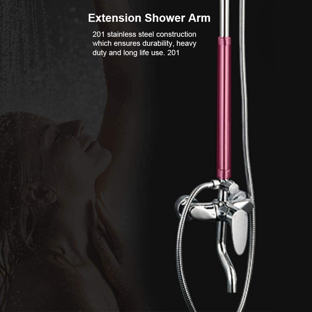 Extension Shower Arm,6in 6in 10in 12in Stainless Steel Extender Tube Shower Head Extension Rod
