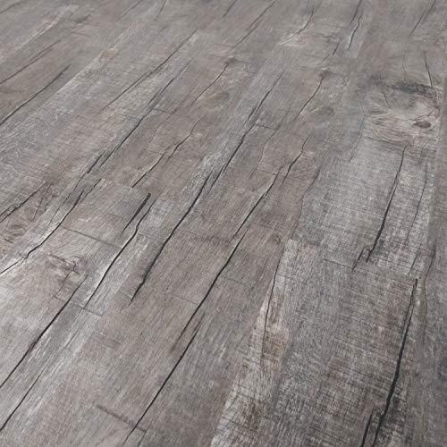 TRECOR® Vinylboden Klick RIGID 4.2 Massivdiele - 4,2 m stark mit 0,30 mm Nutzschicht - Sie kaufen 1 m² - WASSERFEST (Vinylboden | 1 qm, Eiche Rustik Dark)