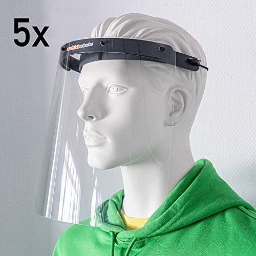 (5 Stück) Professionelles Gesichtschutz-Visier hochtransparent von aufkleberdrucker/stempel-fabrik