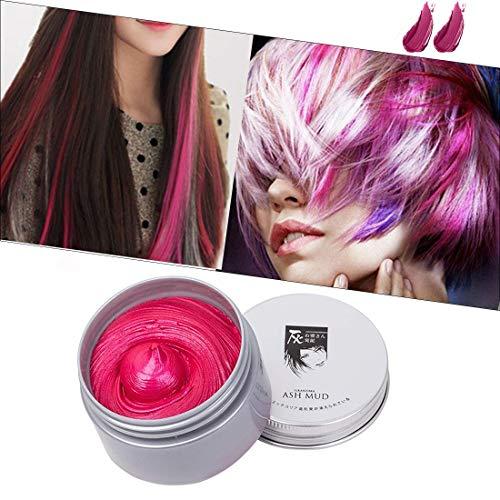 Cera para el cabello unisex cera pelo natural temporal se puede lavar una vez Aplicar a fiesta Cosplay Halloween-rojo