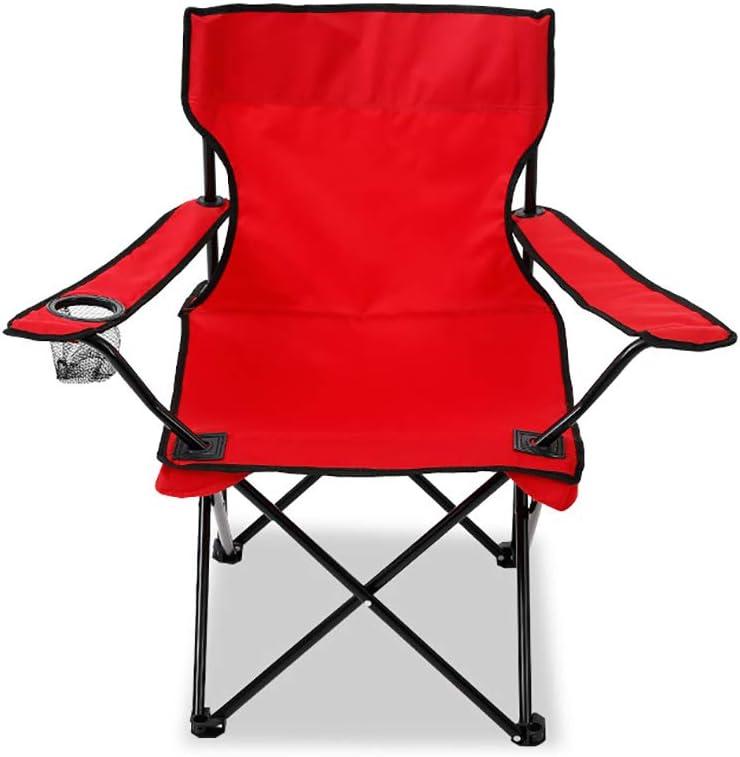 Ocio Plegable Silla De Camping Al Aire Libre con Reposabrazos, Asiento Plegable Portátil, Ideal para Acampar, Festivales, Jardines, Viajes, Pesca, Playa, Barbacoa