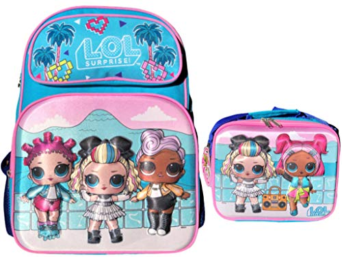 L.O.L. Surprise! Limited Edition Supreme BFF's 16' 3D Backpack and Insulated Lunch Bag