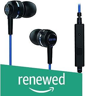 (Renewed) SoundMagic ES18S in-Ear Headphones with Mic (Black/Blue)
