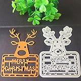 Troqueles Scrapbooking, Bluestercool Navidad Acero al Carbono Relieve Troqueles de Corte Plantillas Molde para Bricolaje Scrapbooking álbum de papel tarjeta (Q)