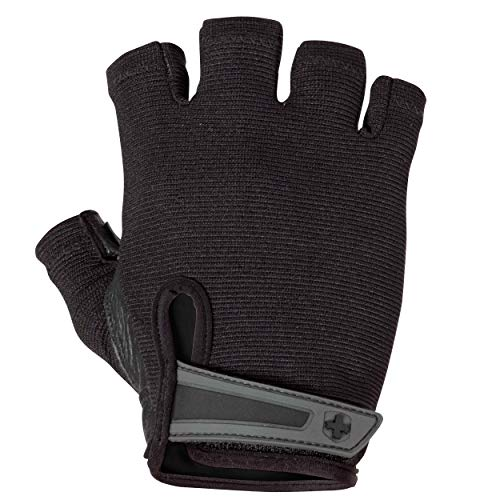 Harbinger Power Non-Wristwrap Weightlifting Gloves with StretchBack Mesh and Leather Palm (Pair), Black, XX-Large (Fits 9.5 + Inches)