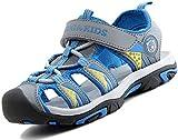 SAGUARO Sandalias para Niño Verano Casual Sandalias de Zapatillas de Trekking y Senderismo Sandalias de Playa Gris Gr.31