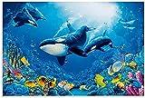 FNECCC Wale in Korallenriffen Leinwand Kunst Poster und
