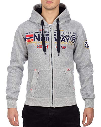 Geographical Norway - Sudadera para hombre Gris gris M