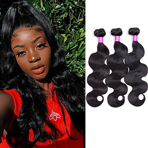 WOWQUEEN Body Wave Bundles Bralizan Hair Bundles Body Wave Human Hair 100% Unprocessed 3 Bundles Body Wave (18/20/22 Inch)