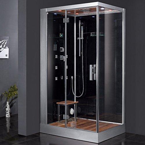Ariel Platinum DZ959F8-BLK-L Steam Shower Combo