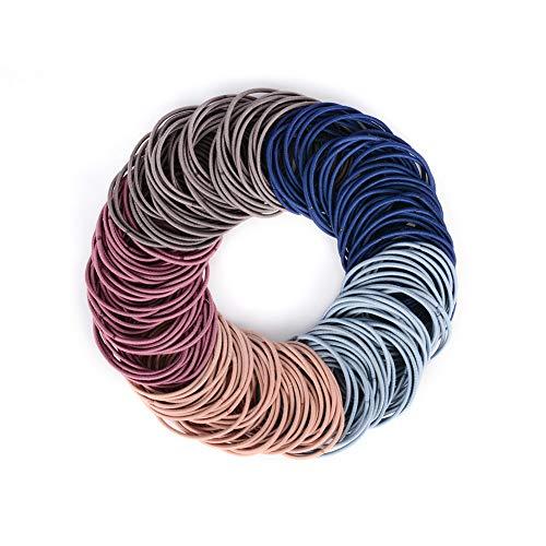 JessLab Ligas para el Cabello, 200 Pcs Elástico Cintas para el Pelo Hair Ties Hair Bands Ponytail Holder Titular de Cola de Caballo Headbands para Mujeres Niñas, Colores Surtidos