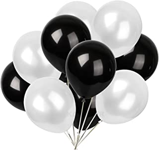 12 inch pearl latex balloons white and black balloons 30 pcs