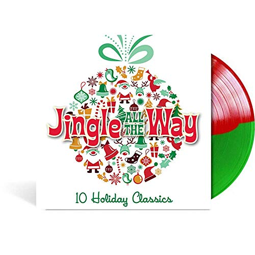 Jingle All The Way (10 Holiday Classics) - Exclusive Limited Edition Red & Green Split Colored Vinyl LP