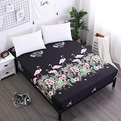 iMyoung - Protector de colchón impermeable para cama con sábana bajera ajustable separada con elástico, F-HLN, 150 x 200 x 30 cm