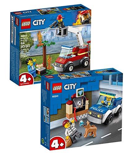 LEGO City Junior Set: 60212 Feuerwehr beim Grillfest + 60241 Polizeihundestaffel