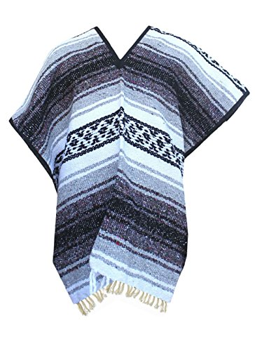 Del Mex Youth Child Classic Mexican Blanket Poncho Pancho Costume