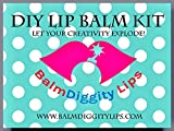 Lip Balm making kit DYI 55 piece set, make 10 Chap Sticks, includes melt and pour balm and all you need to craft Balmdiggity Lips
