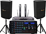 New Karaoke System IDOLmain 6000W Professional Karaoke Mixing Amplifier with Bluetooth/Equalizer/HDMI Plus Speaker and Wireless Microphone System