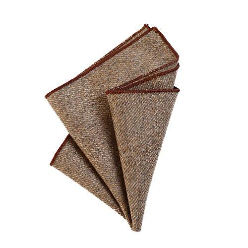 DonDon heren pochet zakdoek 23 x 23 cm om zelf te vouwen gemaakt in effen katoenen tweedstijl