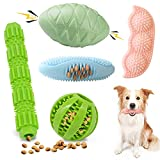Etrustor Puppy Toys,5-Pack Puppy Teething Chew Toys 100% Natural Rubber Dog Chew Squeaky Toys Puppy Relieve Itching and Teeth Cleaning Small Medium Dog Chew Toys…