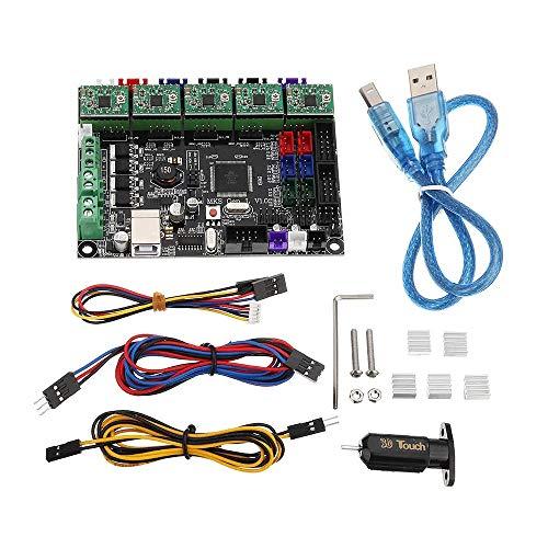 Zjcpow - Kit per stampante 3D con controller integrato e sensore TL-touch con driver A4988, dissipatore di calore, linee per stampanti 3D 3D