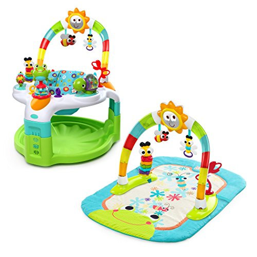 Bright Starts 2 in 1 Laugh & Lights Activity Gym and Saucer, Green