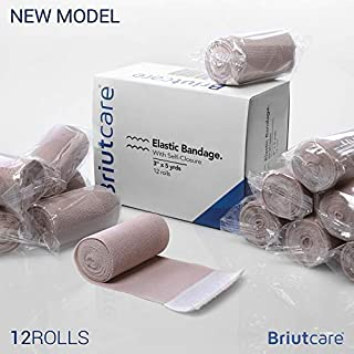 "Briutcare Elastic Bandage Wrap 3""x5 Yds (12 Pcs) 