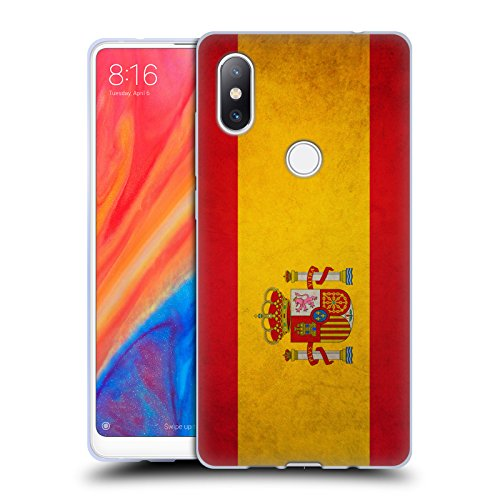 Head Case Designs Español De España Banderas Vintage Carcasa de Gel de Silicona Compatible con Xiaomi Mi Mix 2S