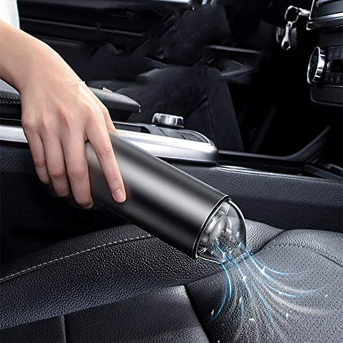 VBARV Mini aspirateur Portable, aspirateur de Voiture sans Fil, Aspiration cyclonique 4000PA, 2000mAh Rechargeable, pour Le Nettoyage des Poils d'animaux, de la Maison et de la Voiture