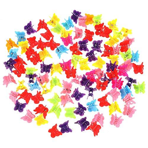 Xinzistar 200 Stück Mini Haarklammer Mädchen Blume Haarspangen Baby Haarklammern Haarspangen Klein Butterfly Hairclips Haarschmuck für Mädchen Damen (Schmetterling)