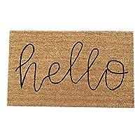 玄関マット HAHA ドアマットピュアカラー手織りココナッツパームドアマットでは屋内屋外に適したゴムゴムノンスリップボトム、 (Color : Style1, Size : 45x75cm)