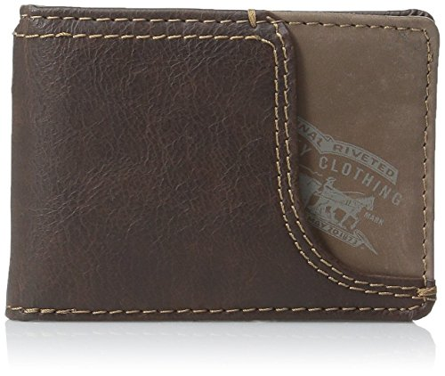 Levi's Men's Wallet with Money Clip (Brown)
