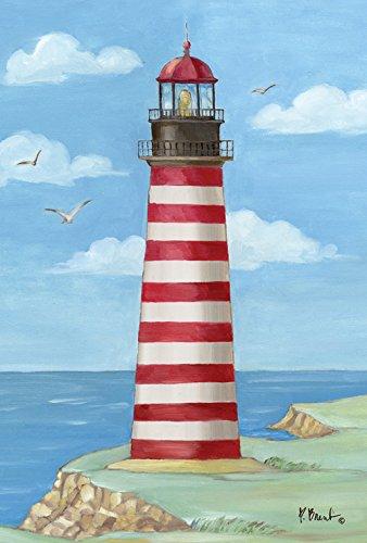 Toland Home Garden West Quoddy Head Leuchtturm, 71,1 x 101,6 cm, dekorative Küste Maine Möwe Vogelhaus Flagge