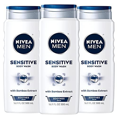 NIVEA Men Sensitive 3 in 1 Body Wash for Sensitive Skin