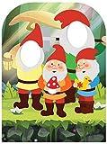 Star Cutouts Ltd Spirit of The Garden Gnomos-Tarjeta para niños, cartón, Multicolor, 131 x 95 x 131 cm