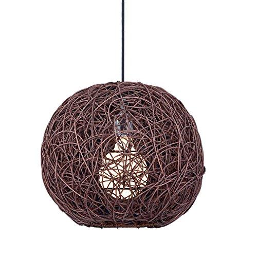 Homemania pendellamp Tirol kleur bruin, van hout voor plafond, woonkamer, woonkamer, woonkamer, kantoor E27