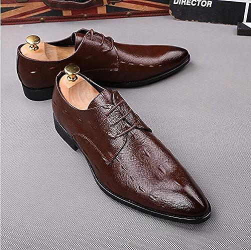 LOVDRAM Chaussures en Cuir pour Hommes Nouveaux Hommes d'affaires Chaussures Habillées Style De Mode Rétro Homme Chaussures en Cuir Sociale Sapato Oxford Oxfords Chaussures De Mariage