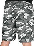 Carhartt - Pantalones cortos de camuflaje para hombre (27,9 cm), 36W (UK), Rugged Gray Camo, 1