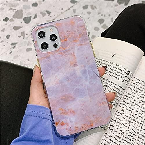Custodia per telefono in marmo lucido con texture per iPhone 12 Mini 11 Pro Max X XR XS 7 8 Plus SE2 Custodia antiurto per paraurti completa in silicone pulito, rosa, per iphone SE 2020