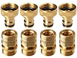 GORILLA EASY CONNECT Garden Hose Quick Connect Fittings.  Inch GHT Solid Brass.