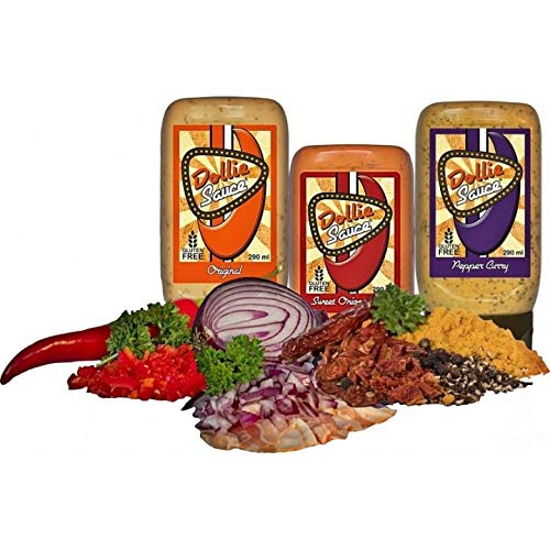 Dollie Sauce 3er Set - Original, Sweet Onion Bacon, Pepper Curry - 3 x 290 g